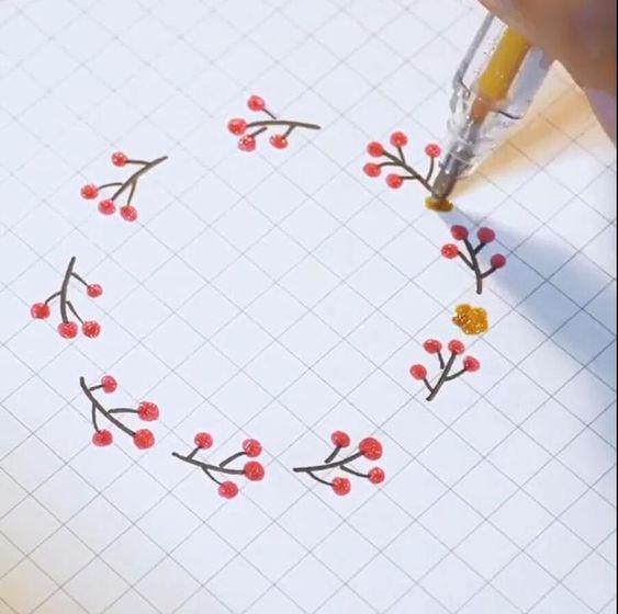 Красивые рисунки цветов для срисовки в свой дневник - 40 лучших идей (3)