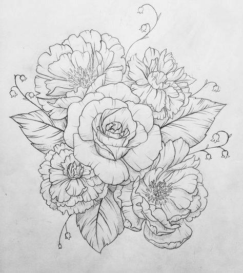 Красивые рисунки цветов для срисовки в свой дневник - 40 лучших идей (30)