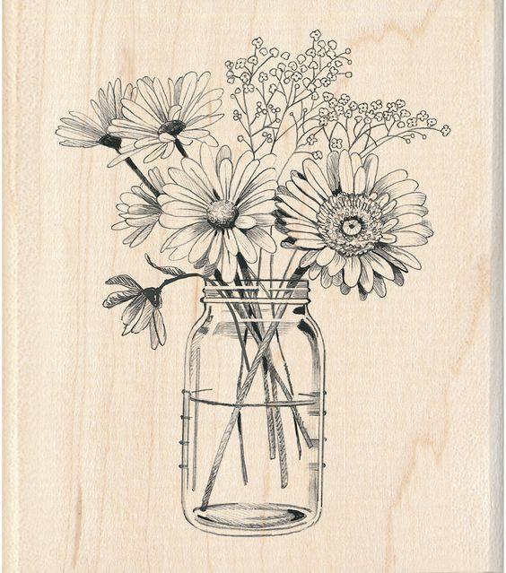 Красивые рисунки цветов для срисовки в свой дневник - 40 лучших идей (32)