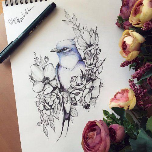 Красивые рисунки цветов для срисовки в свой дневник - 40 лучших идей (34)