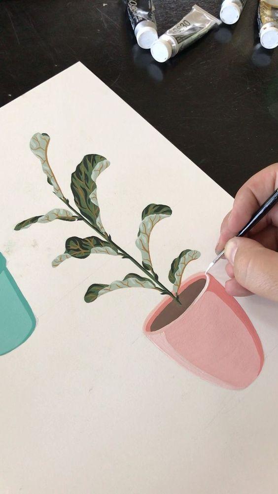 Красивые рисунки цветов для срисовки в свой дневник - 40 лучших идей (5)
