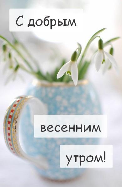 Доброе утро весны, отличные открытки на утренний настрой (1)