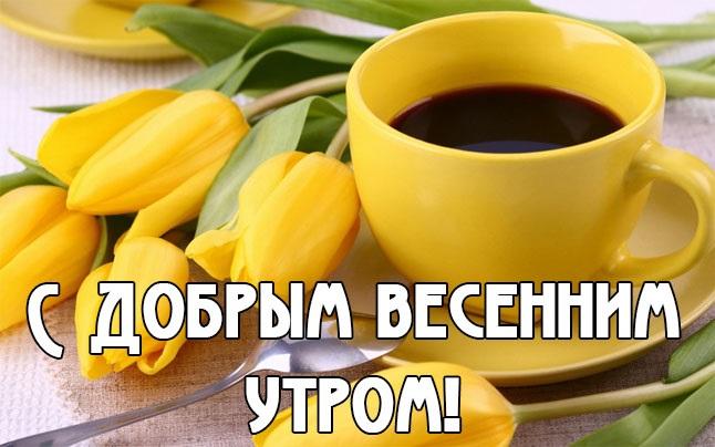 Доброе утро весны, отличные открытки на утренний настрой (18)