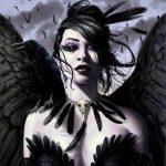 Красивое фото на аватарку черный ангел