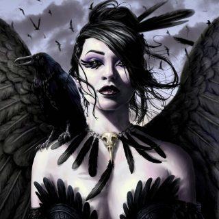 Красивое фото на аватарку черный ангел (1)