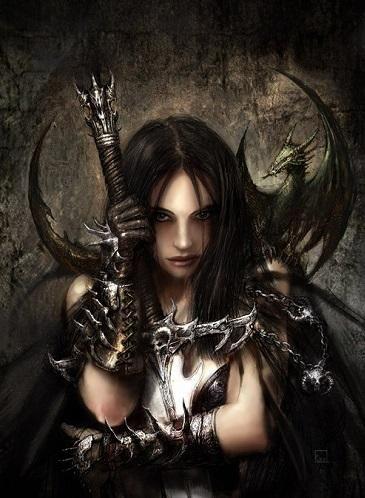 Красивое фото на аватарку черный ангел (11)