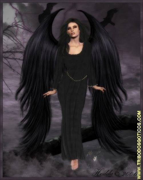 Красивое фото на аватарку черный ангел (12)