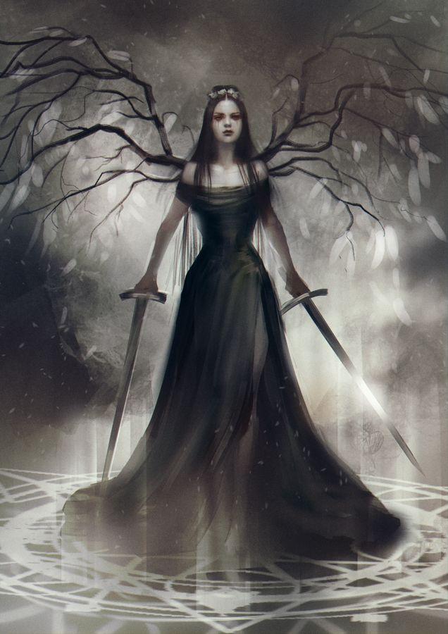 Красивое фото на аватарку черный ангел (2)