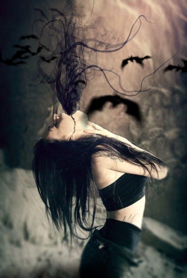 Красивое фото на аватарку черный ангел (3)