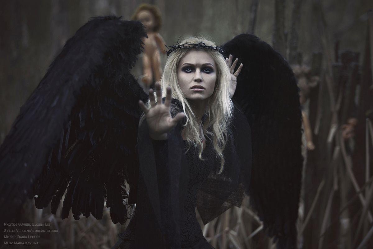 Красивое фото на аватарку черный ангел (5)