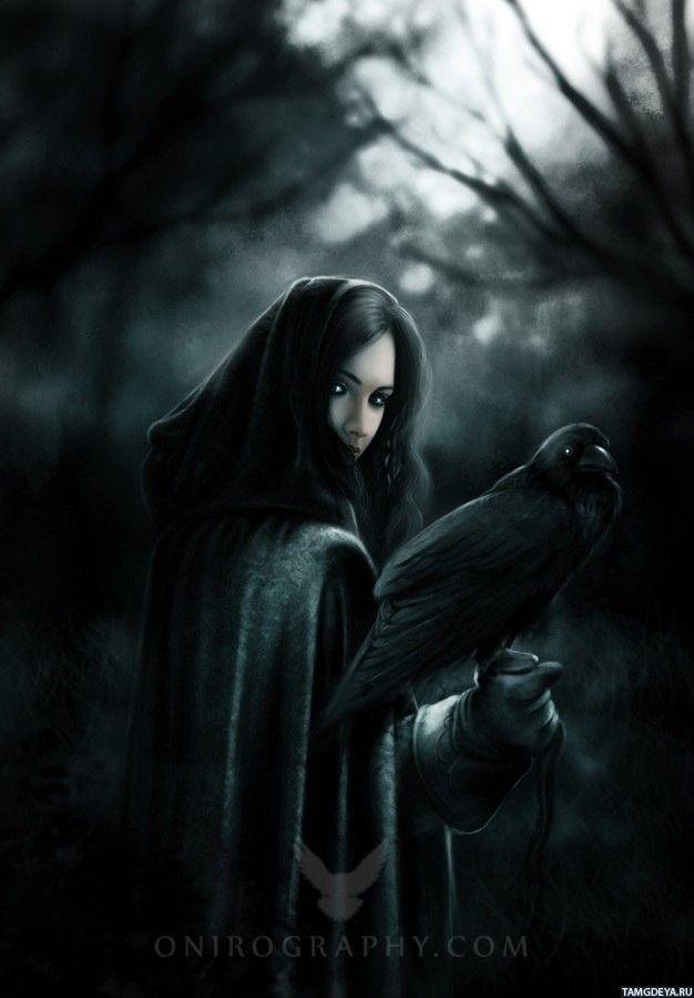 Красивое фото на аватарку черный ангел (6)