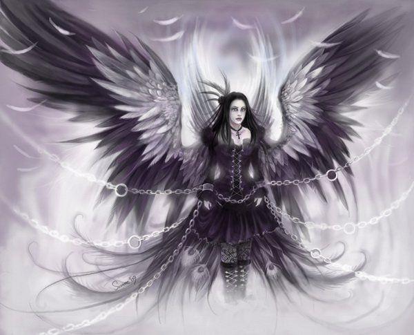 Красивое фото на аватарку черный ангел (8)