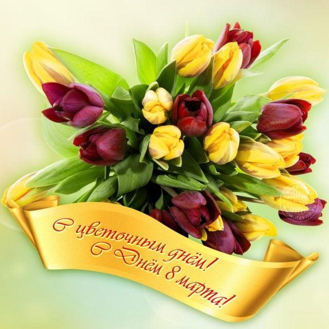 Красивые открытки с 8 марта для женщин и девушек (7)