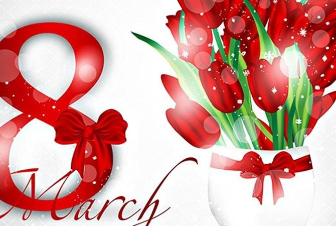 С 8 марта цветы для девушки, красивые картинки за 2020 год (10)