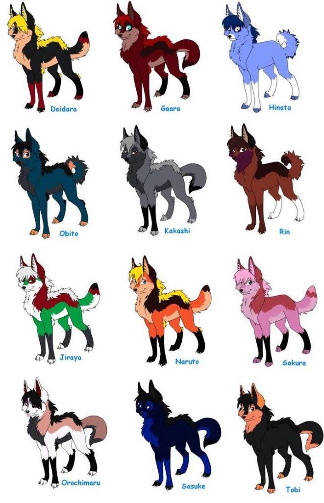 Аниме животные для срисовки - большая подборка (34)