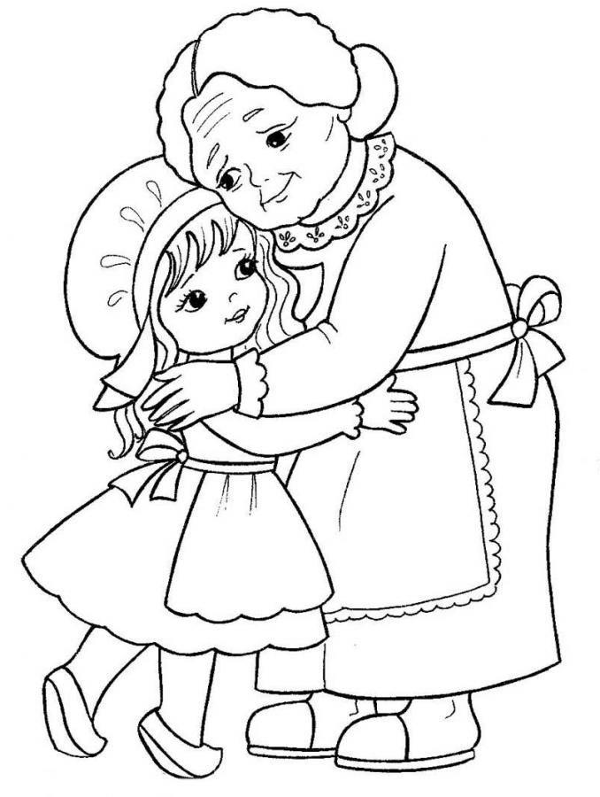Бабушка, дедушка и внучка рисунок (12)