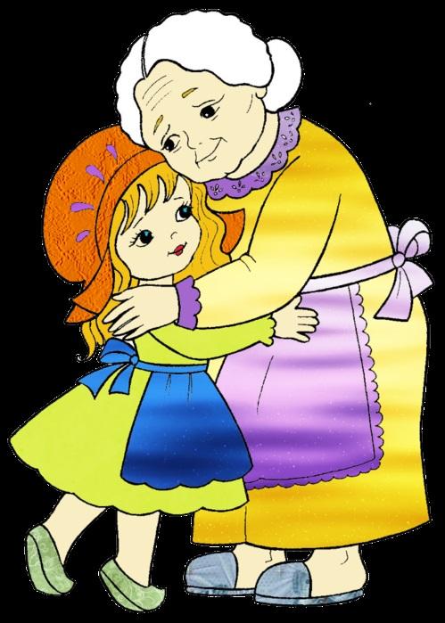 Бабушка, дедушка и внучка рисунок (13)