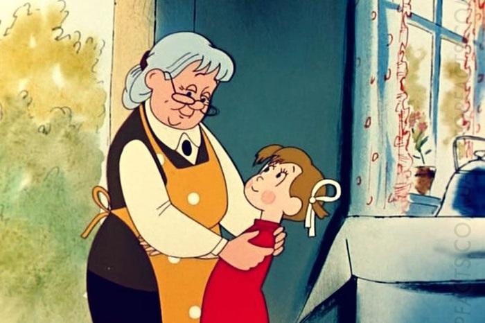 Бабушка, дедушка и внучка рисунок (14)