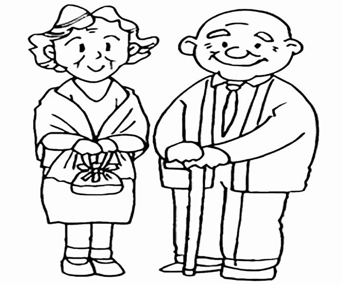 Бабушка, дедушка и внучка рисунок (15)