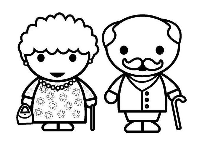 Бабушка, дедушка и внучка рисунок (16)