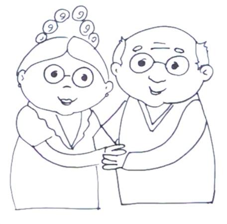 Бабушка, дедушка и внучка рисунок (2)