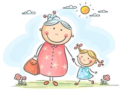Бабушка, дедушка и внучка рисунок (4)