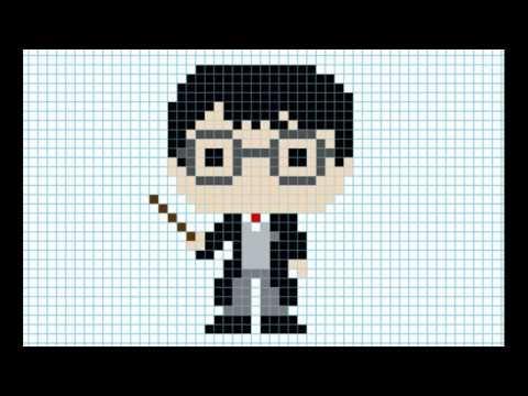 Гарри Поттер по клеточкам - красивые рисунки (12)