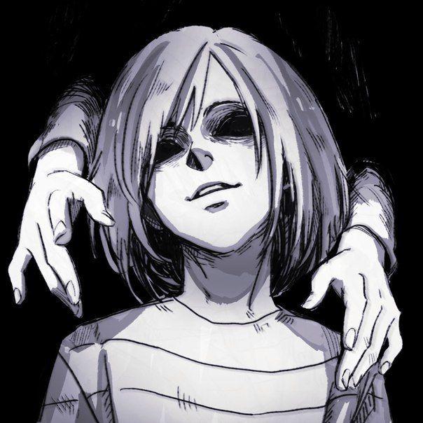 Грустные черно белые картинки аниме (16)