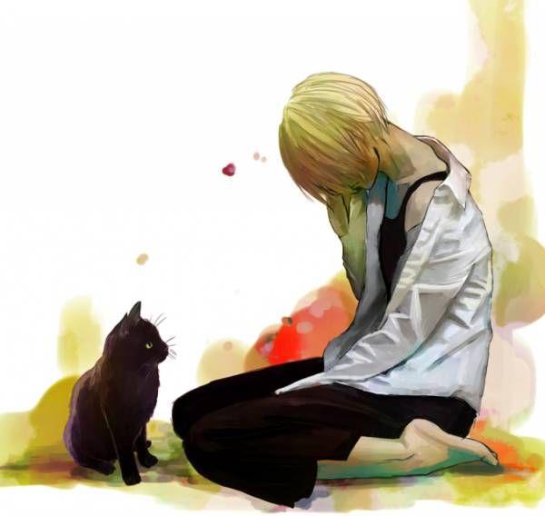 Грустные черно белые картинки аниме (20)