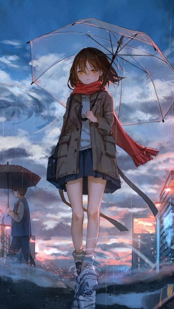 Грустные черно-белые картинки аниме (23)