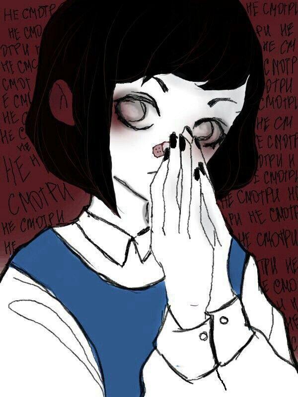 Грустные черно белые картинки аниме (27)
