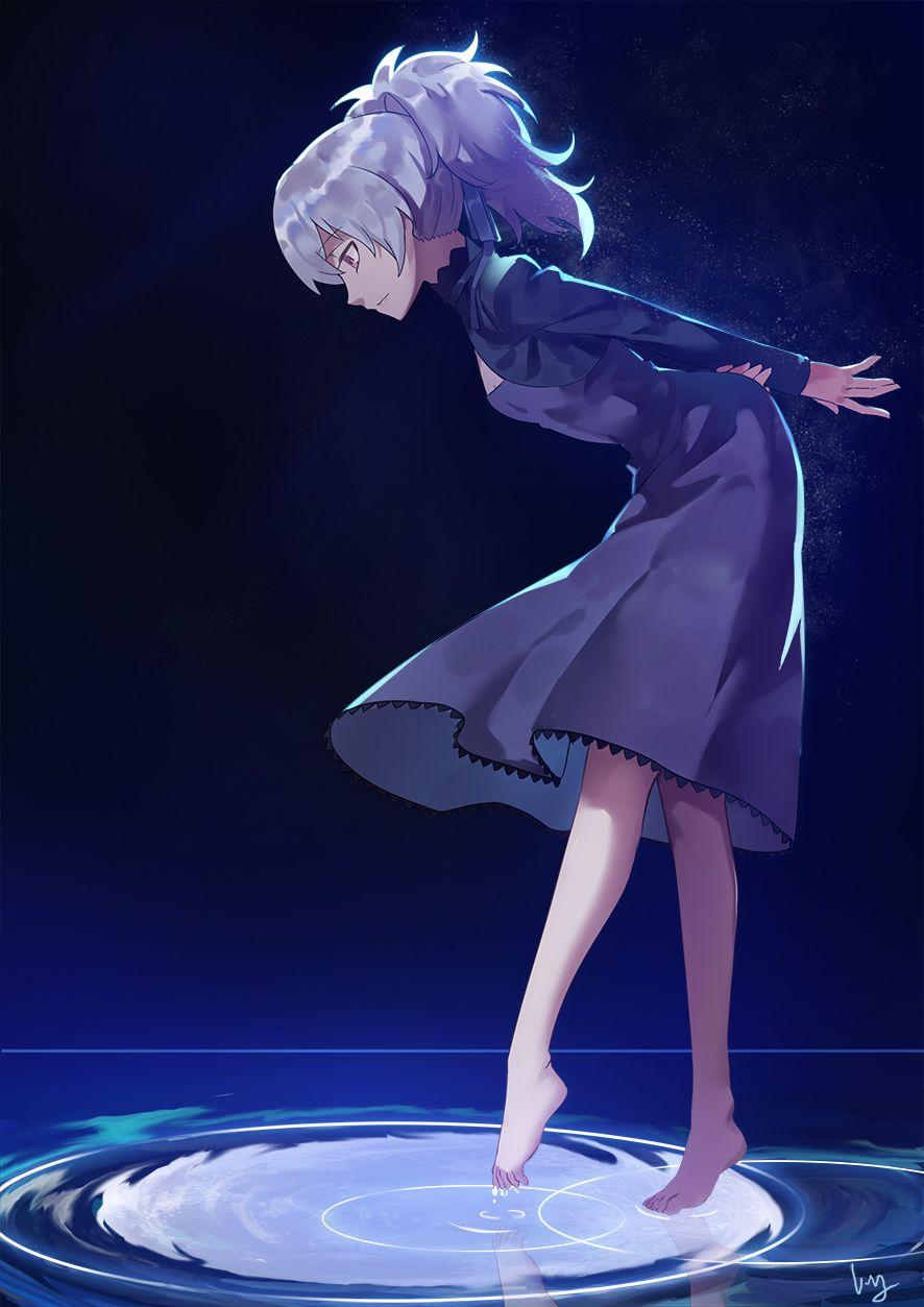 Девочка с черными волосами аниме (25)