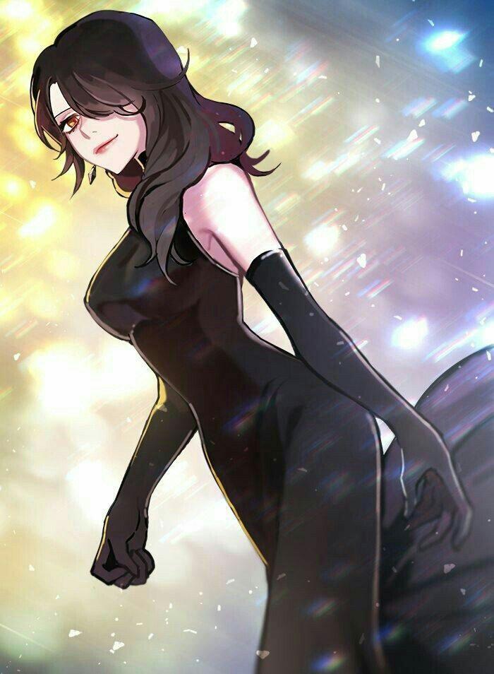 Девочка с черными волосами аниме (27)