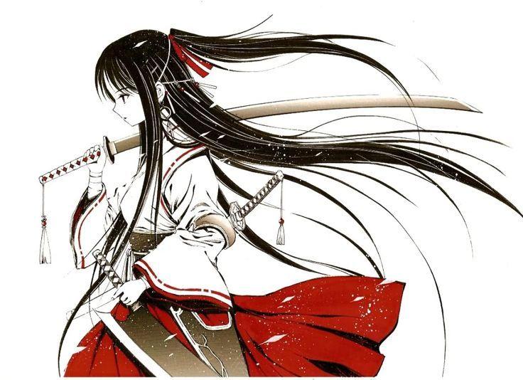 Девочка с черными волосами аниме (28)
