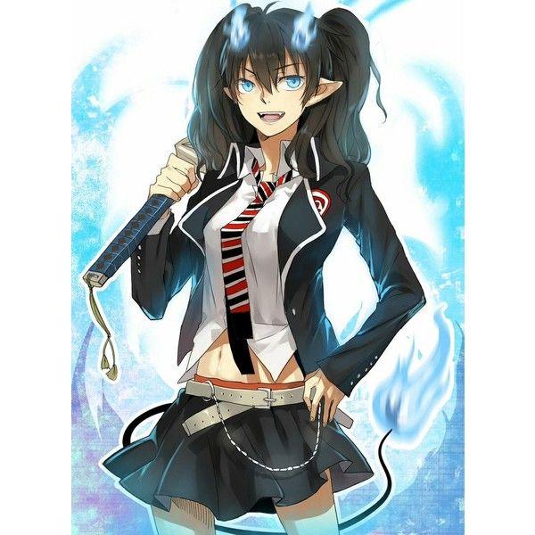 Девочка с черными волосами аниме (31)