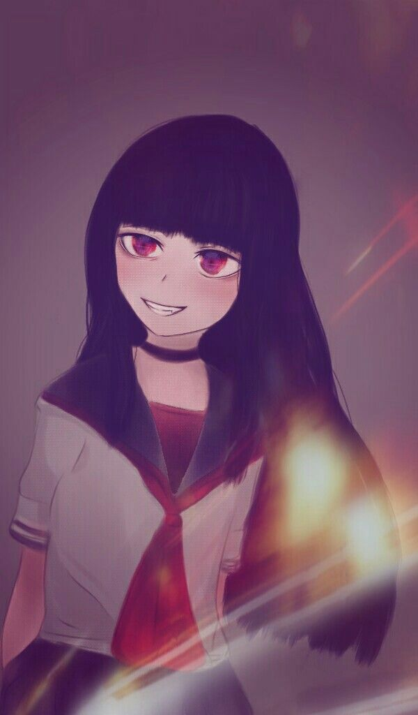 Девочка с черными волосами аниме (7)