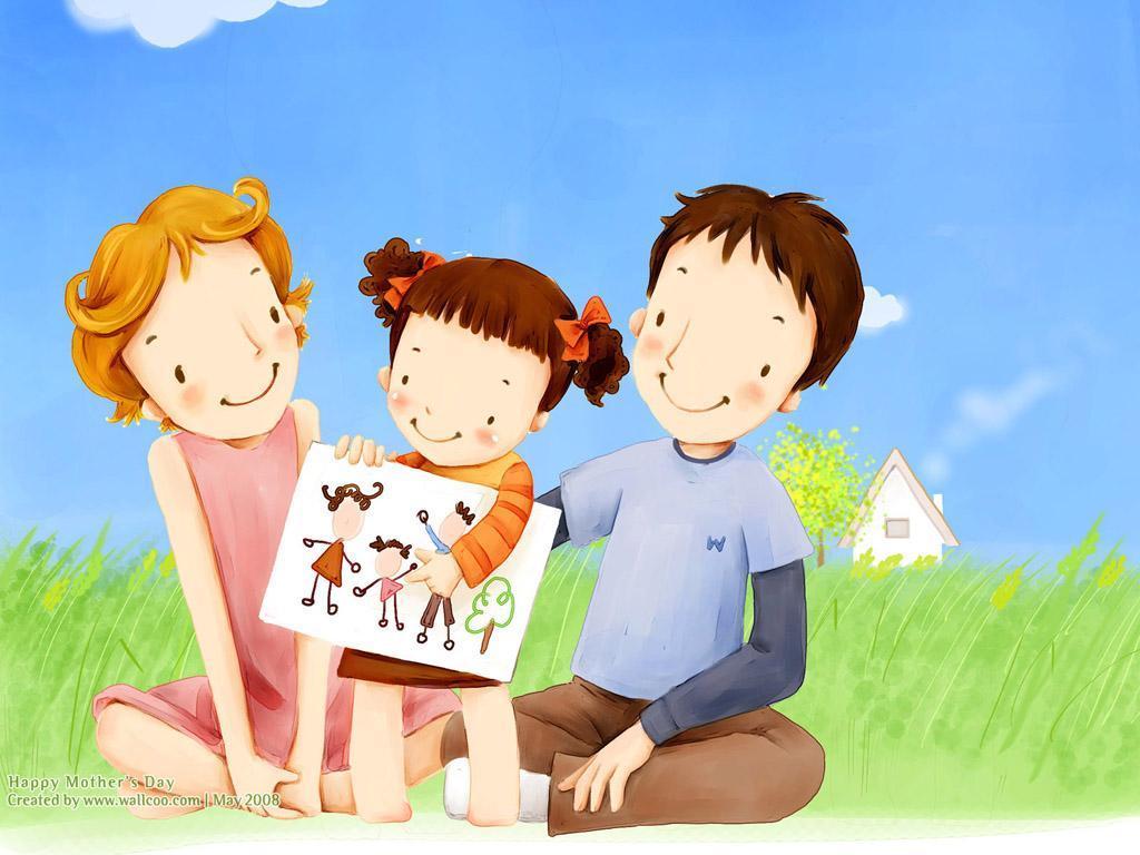 Детские картинки на тему дети и родители (1)