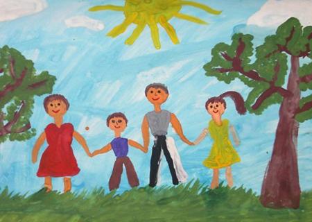 Детские картинки на тему дети и родители (12)