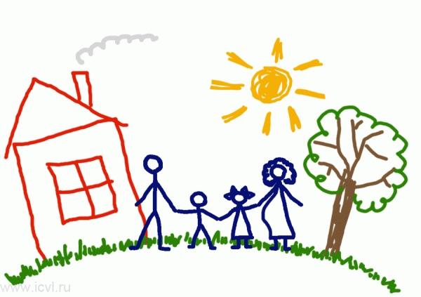 Детские картинки на тему дети и родители (8)