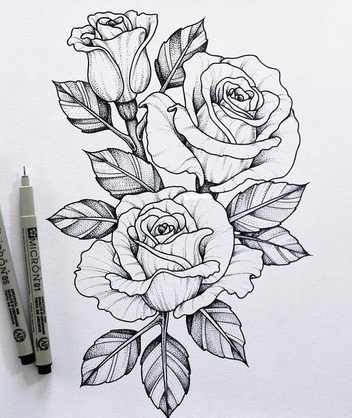 Как нарисовать красивые цветы фотоподборка (10)