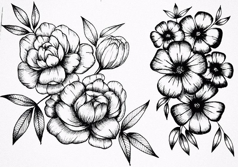 Как нарисовать красивые цветы фотоподборка (11)