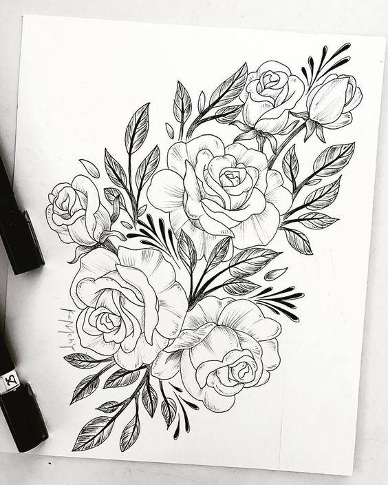 Как нарисовать красивые цветы фотоподборка (18)