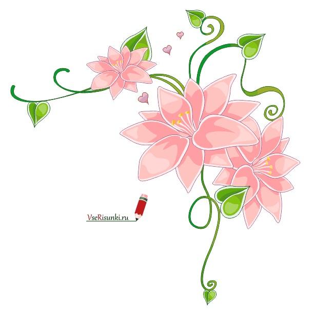 Как нарисовать красивые цветы фотоподборка (4)