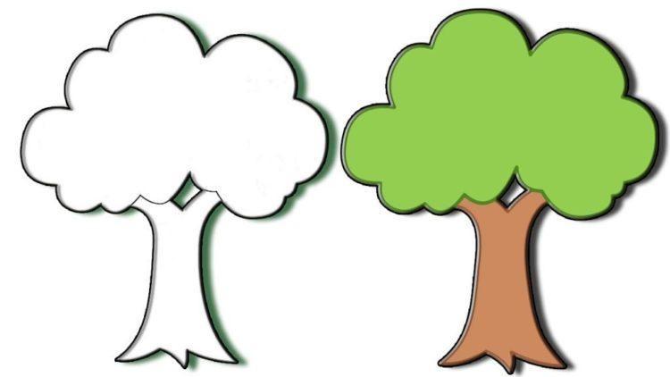Картинка ствол дерева для детей (10)
