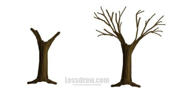 Картинка ствол дерева для детей (17)