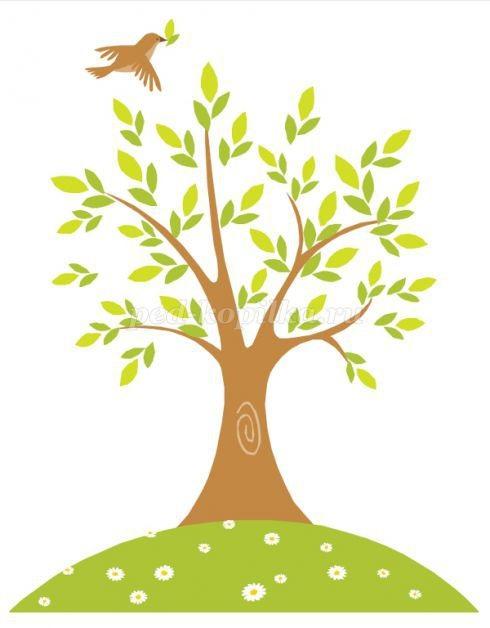 Картинка ствол дерева для детей (7)