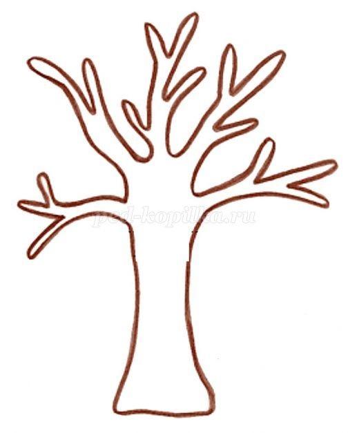 Картинка ствол дерева для детей (8)