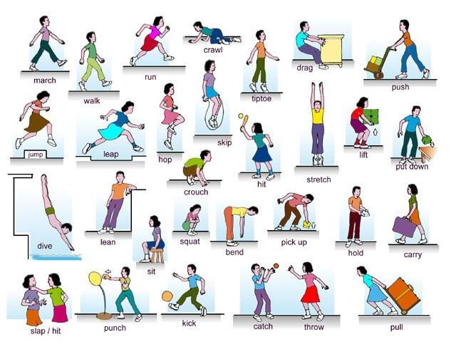 Картинки для детей с действиями (14)