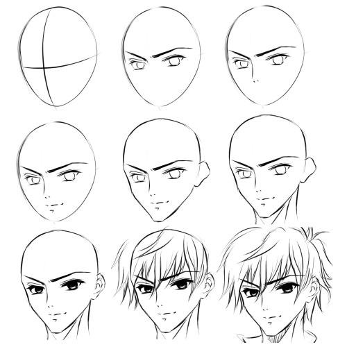 Картинки для срисовки поэтапно аниме (10)