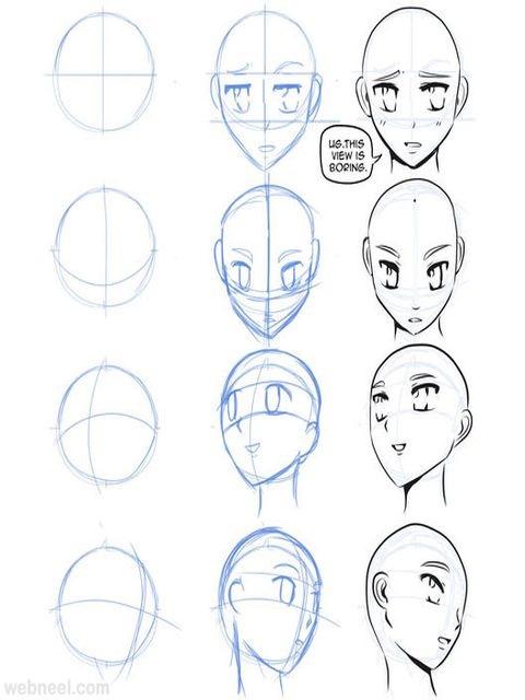 Картинки для срисовки поэтапно аниме (13)